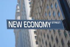 Nuova via di economia Fotografie Stock