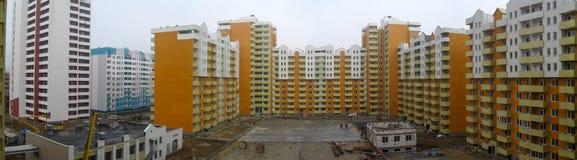Nuova vicinanza La vista dalla finestra Fotografia Stock