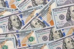 100 nuove banconote del dollaro americano Fotografia Stock Libera da Diritti