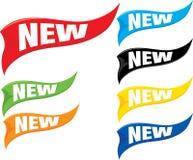 Nuove bandiere Fotografia Stock