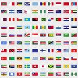 Nuove bandiere dell'insieme del mondo Fotografie Stock Libere da Diritti