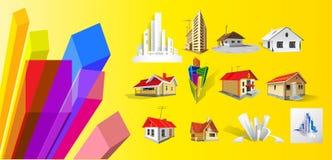 Nuove case illustrazione di stock