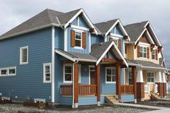 Nuove case da vendere Fotografia Stock
