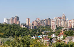 Nuove case di Kiev Immagine Stock