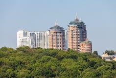 Nuove case di Kiev Fotografia Stock Libera da Diritti
