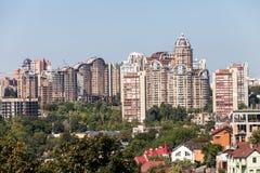 Nuove case di Kiev Fotografia Stock