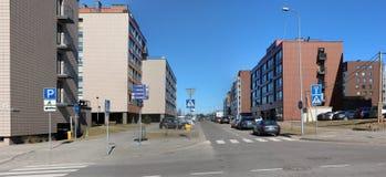 Nuove case moderne con gli appartamenti di piccole dimensioni di basso costo per youn Fotografia Stock