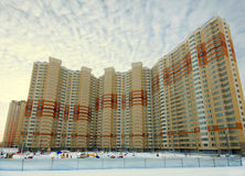Nuove case nella periferia di Mosca Fotografie Stock Libere da Diritti