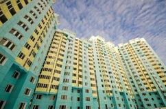 Nuove case nella periferia di Mosca Immagine Stock