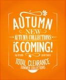 Nuove collezioni di autunno illustrazione di stock