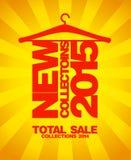 Nuove collezioni 2015, vendita 2014 illustrazione di stock
