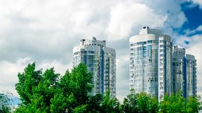 Nuove costruzione-torri residenziali in samara Fotografia Stock