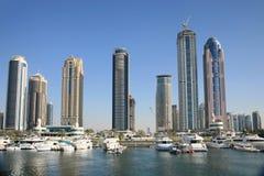 Nuove costruzioni che aumentano in Doubai Fotografia Stock Libera da Diritti