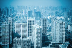 Nuove costruzioni della foresta urbana Fotografia Stock Libera da Diritti