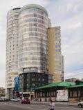 Nuove costruzioni di Ekaterinburg Centro urbano Via di Radishchev russ Fotografia Stock