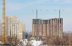 Nuove costruzioni moderne alte Fotografie Stock