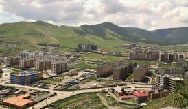 Nuove costruzioni nella capitale Ulaanbaatar, Immagini Stock