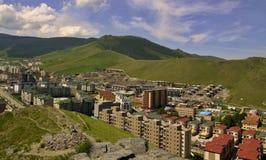 Nuove costruzioni nella capitale Ulaanbaatar, Fotografie Stock Libere da Diritti
