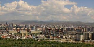 Nuove costruzioni nella capitale Ulaanbaatar, Fotografia Stock