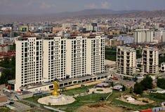 Nuove costruzioni nella capitale Ulaanbaatar, Mongolia Fotografie Stock