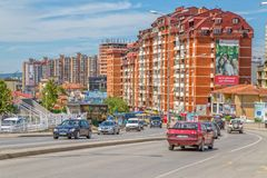 Nuove costruzioni in Pristina Immagine Stock
