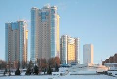 Nuove costruzioni in Samara in inverno 2 Immagine Stock