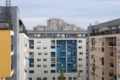 Nuove e vecchie costruzioni Belgrado immagini stock libere da diritti