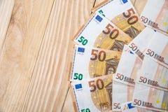 50 nuove euro banconote Fotografia Stock Libera da Diritti
