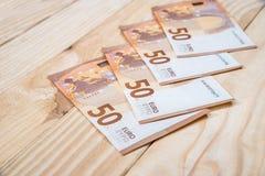 50 nuove euro banconote Fotografie Stock Libere da Diritti