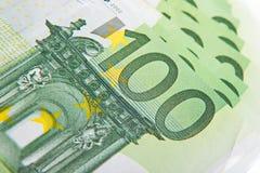 Nuove euro banconote come fondo, Fotografie Stock