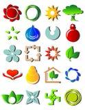 Nuove icone colorate Immagine Stock