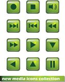 Nuove icone di media Immagine Stock Libera da Diritti