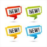 Nuove icone di vettore - etichette della carta di origami Immagine Stock Libera da Diritti