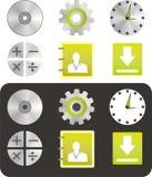 Nuove icone di web Fotografie Stock