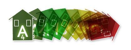 Nuove leggi europee nell'interessare rendimento energetico Fotografia Stock