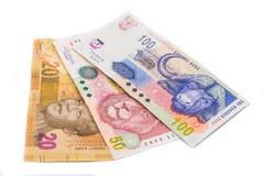 Nuove 20 50 note sudafricane del bordo and100 Fotografia Stock
