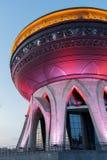 Nuove nozze del palazzo illuminate nella sera a Kazan Immagini Stock
