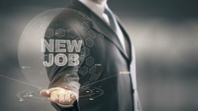 Nuove nuove tecnologie disponibile di Job Businessman Holding stock footage