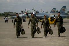 NUOVE PROPOSTE DELL'AEREO DA CACCIA DELL'AERONAUTICA DELL'INDONESIA Fotografia Stock Libera da Diritti
