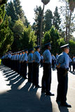 Nuove reclute di attenzione - LAPD Fotografia Stock