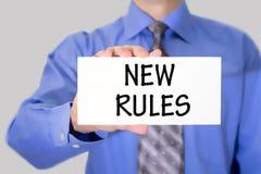 Nuove regole Fotografia Stock Libera da Diritti