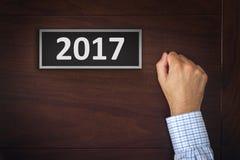 2017, nuove risoluzioni di anno d'esercizio Fotografie Stock Libere da Diritti