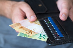 Nuove rubli bielorusse nel portafoglio Immagine Stock Libera da Diritti