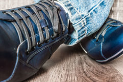 Nuove scarpe alla moda Fotografia Stock
