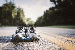 Nuove scarpe da corsa Fotografia Stock