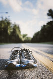 Nuove scarpe da corsa Fotografia Stock Libera da Diritti