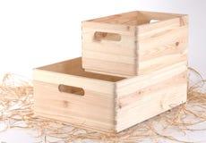 Nuove scatole di legno Immagine Stock Libera da Diritti