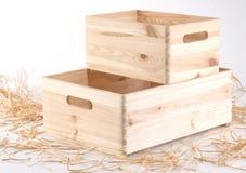 Nuove scatole di legno Fotografia Stock