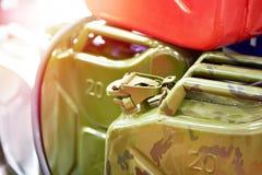 Nuove taniche per benzina immagini stock libere da diritti