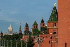 Nuove viste del Cremlino di Mosca Immagine Stock